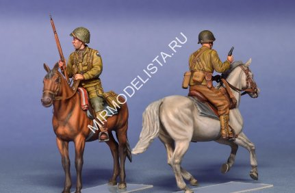 35151 MiniArt фигуры  U.S. HORSEMEN. NORMANDY 1944  (1:35)