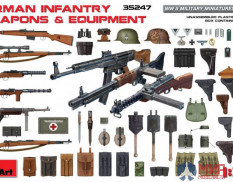 35247 MiniArt аксессуары  GERMAN INFANTRY WEAPONS & EQUIPMENT  (1:35)