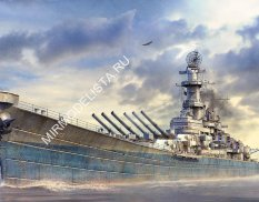 Tamiya 78029 1/350 U.S. ship US Battleship BB-63 Missouri - Circa 1991