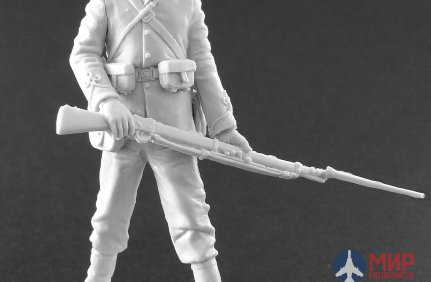 CHM-54020 Chronos Miniatures 54mm British soldier of the 24th infantry regiment,1879 Material-Resin.