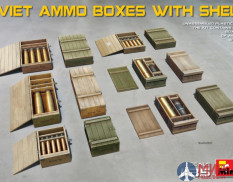 35261 MiniArt аксессуары  SOVIET AMMO BOXES WITH SHELLS  (1:35)