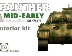 2098 Takom 1/35 WWII German medium Tank Sd.Kfz.171 Panther A mid-early production