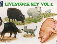 RV35007 Riich Models 1/35 Livestock Set Vol.1
