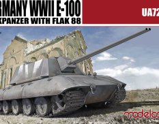 UA72067 Modelcollect 1/72  Germany WWII E-100 Flakpanzer with FLAK 88