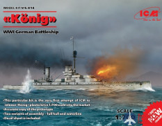 S. 014 ICM 1/700 scale German battleship