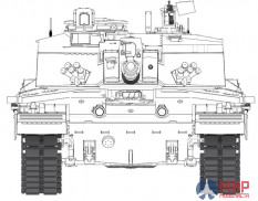 RM-5054 1/35 Workable track links for Challenger 2