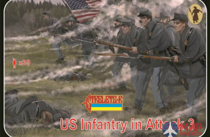STR179 Strelets*R 1/72 US Infantry in Attack 3