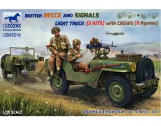 CB35218 Bronco Models 1/35 BRITISH RECCE AND SIGNALS LIGHT TRUCK  (2 KITS ) with CREWS