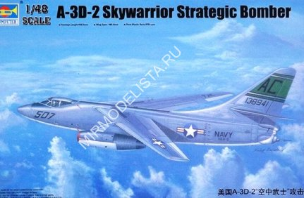 02868 Trumpeter 1/48 Самолет  A-3D-2 Scywarrior Strategic Bomber