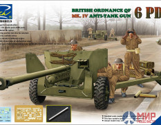 RV35018 Riich Models 1/35 Ordnance QF 6-Pdr. Mk.IV Late War Infantry AT Gun (w/Metal gun barrel)