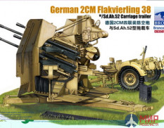 CB35057 Bronco Models 1/35 Пушка German 2cm Flakvierling 38 w/trailer