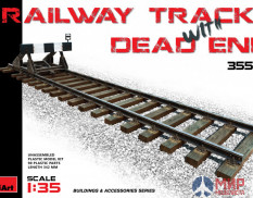35568 MiniArt аксессуары RAILWAY TRACK WITH DEAD END EUROPEAN GAUGE (1:35)