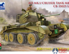 CB35025 Bronco Models 1/35 Танк A13 Cruiser Tank Mk. III
