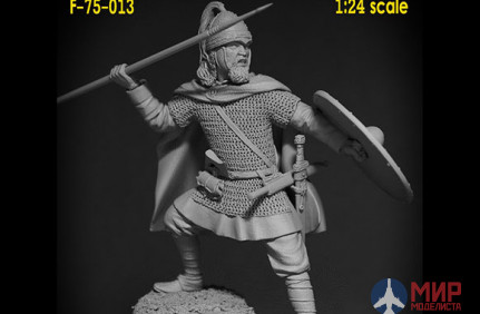 F-75-013 Altores studio 75mm figure of a Frankish warrior. 5th century (1:24) Resin kit 2 Assembly