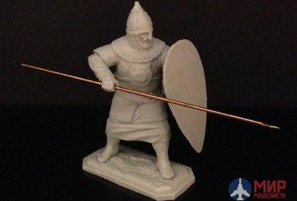 ТБ409 54mm figure of a Russian combatant with a spear and shield . VIM