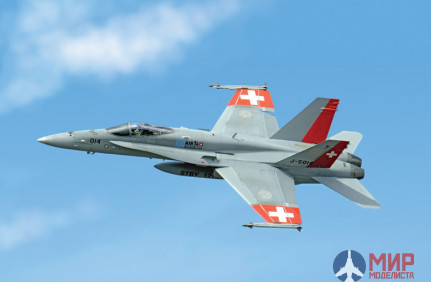 1385 Italeri  самолёт  F/A-18 SWISS AIR FORCES  (1:72)