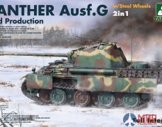 2120 Takom 1/35 WWII German medium Tank Panther Ausf.G Mid production w/ Steel Wheels 2 in 1