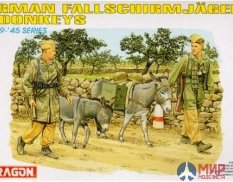 6077 Dragon 1/35 Солдаты  German Fallschirmjager Donkeys