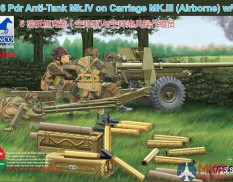 CB35168 Bronco Models 1/35 Пушка OQF 6 Pdr Anti-Tank Gun Mk.IV on Carriage Mk.III (Airborne)