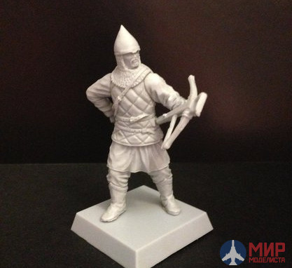 "ТБ402 Studio ""Three heroes"" Hiking 54mm Russian warrior with a crossbow, plastic,1380,the battle of Kulikovo"