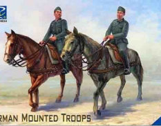 RV35038 Riich Models 1/35 German Mounted Troops (2 Horses & 2 Figures)