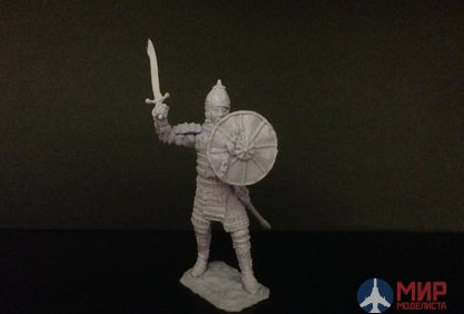"ТБ201 Studio ""Three knights"" 54 mm Hiking Mongol warlord with a sword, formation,1380,the battle of Kulikovo"