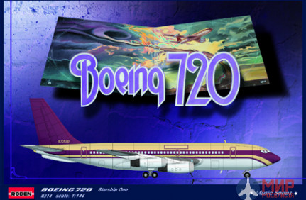 ROD314 Roden 1/144 Самолет Boeing 720 Starship One