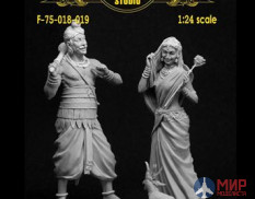 F-75-018/019 Altores studio 75mm Фигуры ONCE IN INDIA (1:24) Resin kit