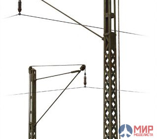 35570 MiniArt аксессуары  RAILROAD POWER POLES AND LAMPS  (1:35)