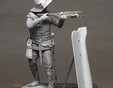 CHM-54109(M) Chronos Miniatures 54 mm Burgundy crossbowman, 1460-75