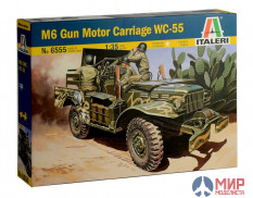 6555 Italeri Автомобиль M6 Gun Motor Carriage WC-55  1/35