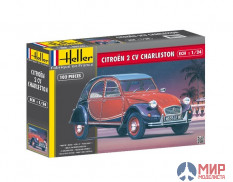 80766  Heller автомобиль  CITROËN 2CV CHARLESTON 1/24