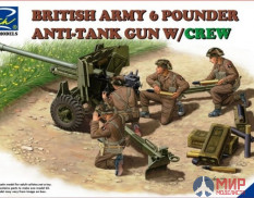 RV35042 Riich Models 1/35 British Army 6 Pounder Anti-Tank Gun w/Crew