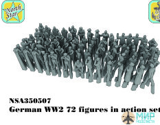NSA350507 North Star Models 1/350 Фигуры German WW2  figures in action set 1