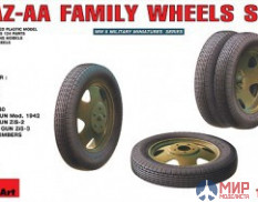 Miniart 35099 1/35 Set of wheels for the family car GAZ-AA