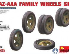 Miniart 35112 1/35 Set of wheels for the family car GAZ-AAA