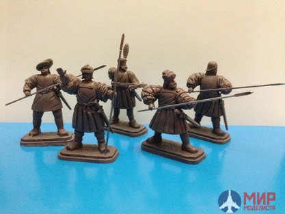 "ТБ1200 Studio ""Three knights"" 54 mm figures of the French 16th century, the Battle of Pavia 1525"