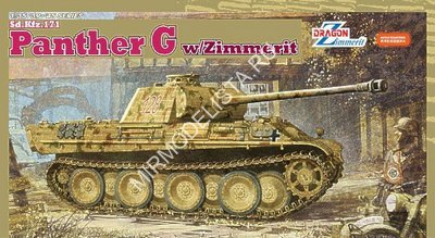 6384 Dragon 1/35 Танк Panther G w/zimmerit