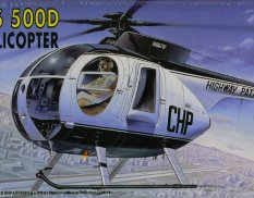 12249 Helicopter 1/48 Academy HUGHES 500D Police Helicopter