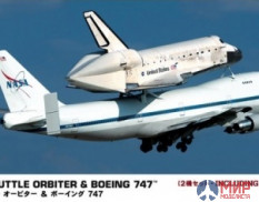 10680 Hasegawa Самолет с шатлом SPACE SHUTTLE ORBITER AND BOEING 747 1/200