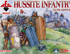 RB72039 Red Box 1/72 Hussite Infantry  15th century