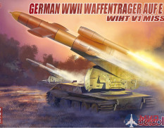 UA72112 Modelcollect German WWII E-100 panzer weapon carrier with V1 Missile launcher