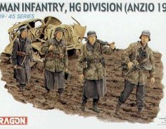 6158 Dragon 1/35 Солдаты German Infantry, HG Divison (Anzio 1944)