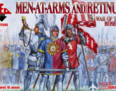 RB72040 Red Box 1/72 War of the Roses 1. Men-at-Arms and Retinue