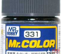C331 Gunze Sangyo (Mr. Color) Краска уретановый акрил Mr. Color 10мл DARK SEAGRAY BS381C/638