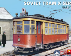 38020  MiniArt  трамвай SOVIET TRAM X-SERIES. EARLY TYPE  (1:35)