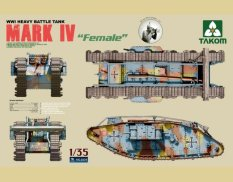2009 Takom 1/35 Тяжелый танк WWI Heavy Battle Tank Mark IV Female