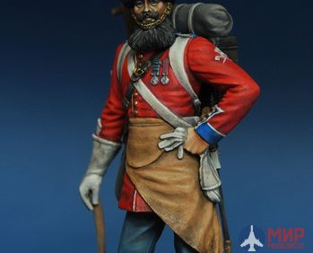 CHM-54002(M) of the Chronos Miniatures 54mm pioneer regiment of Grenadiers of the Guard, the British Empire 1856-57 yy