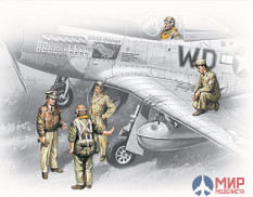48083 ICM 1/48 Пилоты и техники USAAF Pilots and Ground Personel