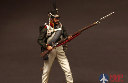 CHM-54014(M) of the Chronos Miniatures 54mm NCO Grenadier regiments, 1812-14 Russian Metal.